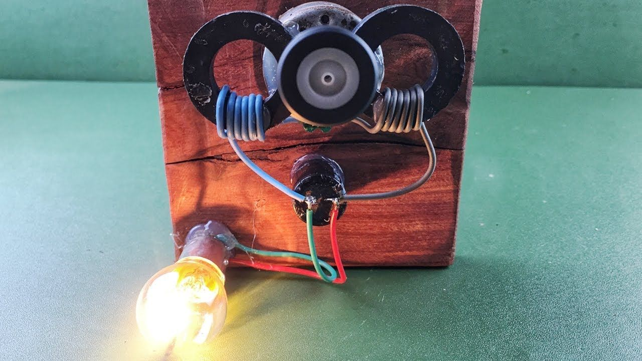 Magnets Coil Generator Using DC Motor , Free Energy Device