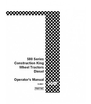 CASE IH 580CK DIESEL TRACTOR OPERATORS MANUAL DOWNLOAD