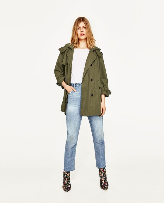 d86295a3 TRENCH CORTO CON CAPUCHA   fashion - let's get some shoes   Short ...