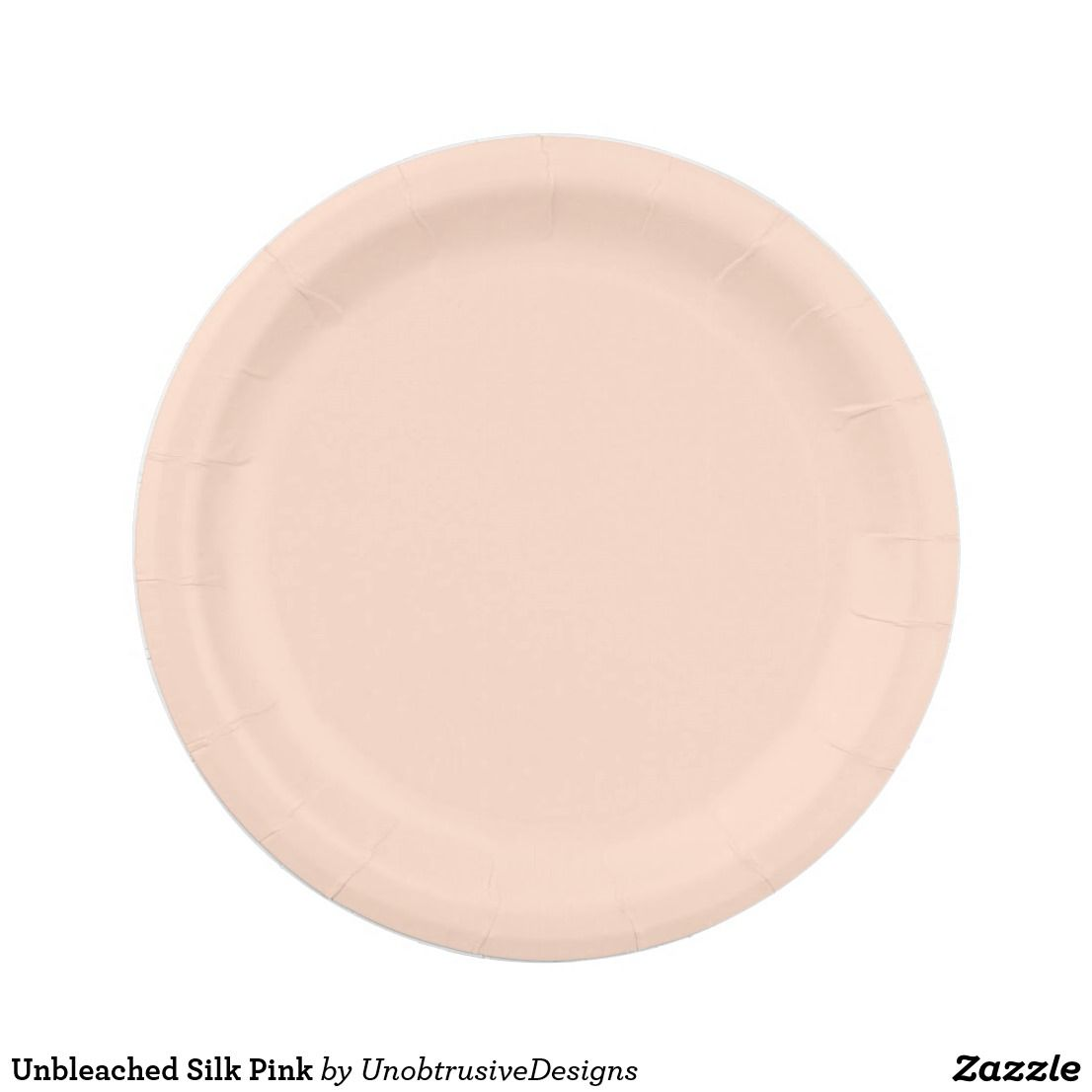 Unbleached Silk Pink Paper Plate Pink