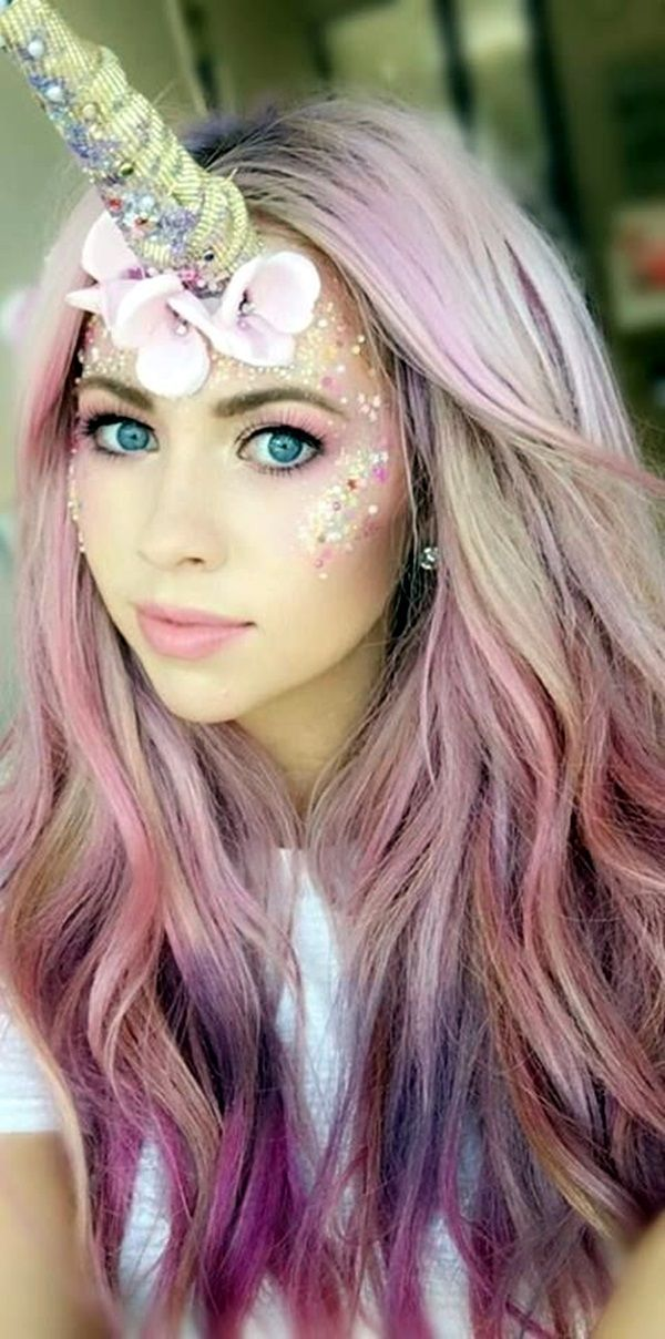 Image Result For Scarecrow Costume Unicorn Halloween Lilac Hair Halloween Makeup