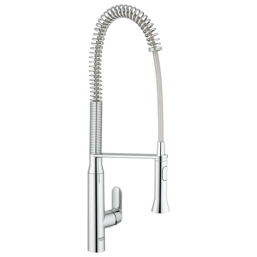Grohe Gray K7 Semi Pro One Handle Single Hole Kitchen Faucet | AllModern