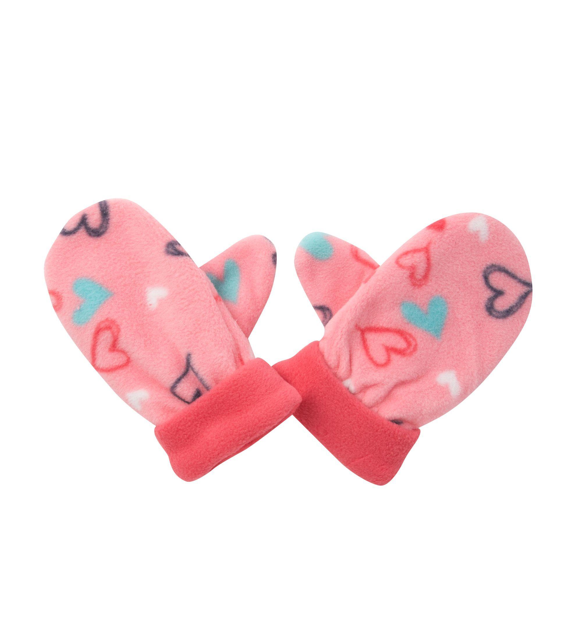 Mothercare Heart Print Fleece Gloves