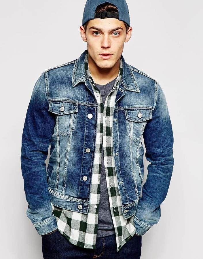 вам ознакомиться с чем носить мужскую джинсовую куртку фото сожалению