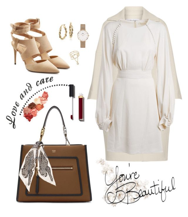 """Winter chic"" by yehuda-eti on Polyvore featuring KaufmanFranco, Fendi, Lime Crime, Chloé, Marc Jacobs, Paul Andrew, Daniel Wellington, Blue Nile, Chanel and Miss Selfridge"