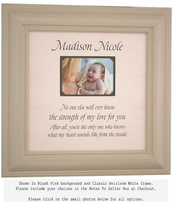 Personalized Baby Shower Gift Picture Photo Frame Baby Boy Girl