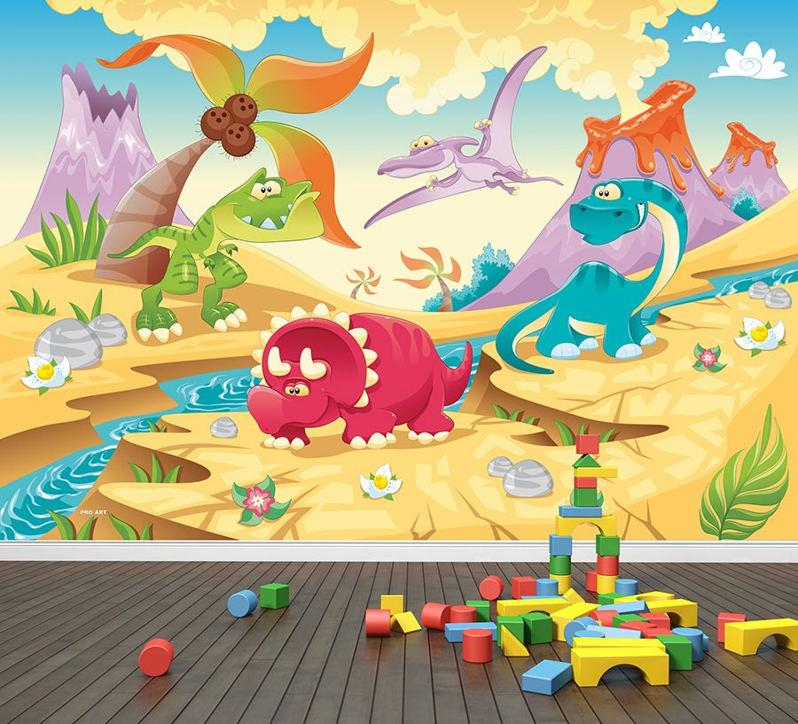 Dinosaur Friends | Wall murals, Wallpaper and Walls