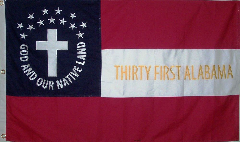 American Civil War Flag Csa Southern Flag Stars And Bars 31st Alabama Ebay Civil War Flags American Civil War Civil War