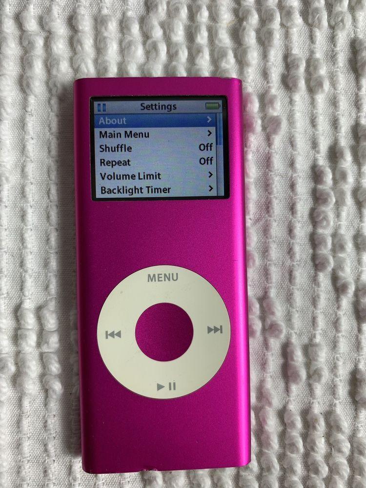 Apple Ipod Nano 2nd Generation 4gb Pink Ebay Ipod Nano Apple Ipod Ipod
