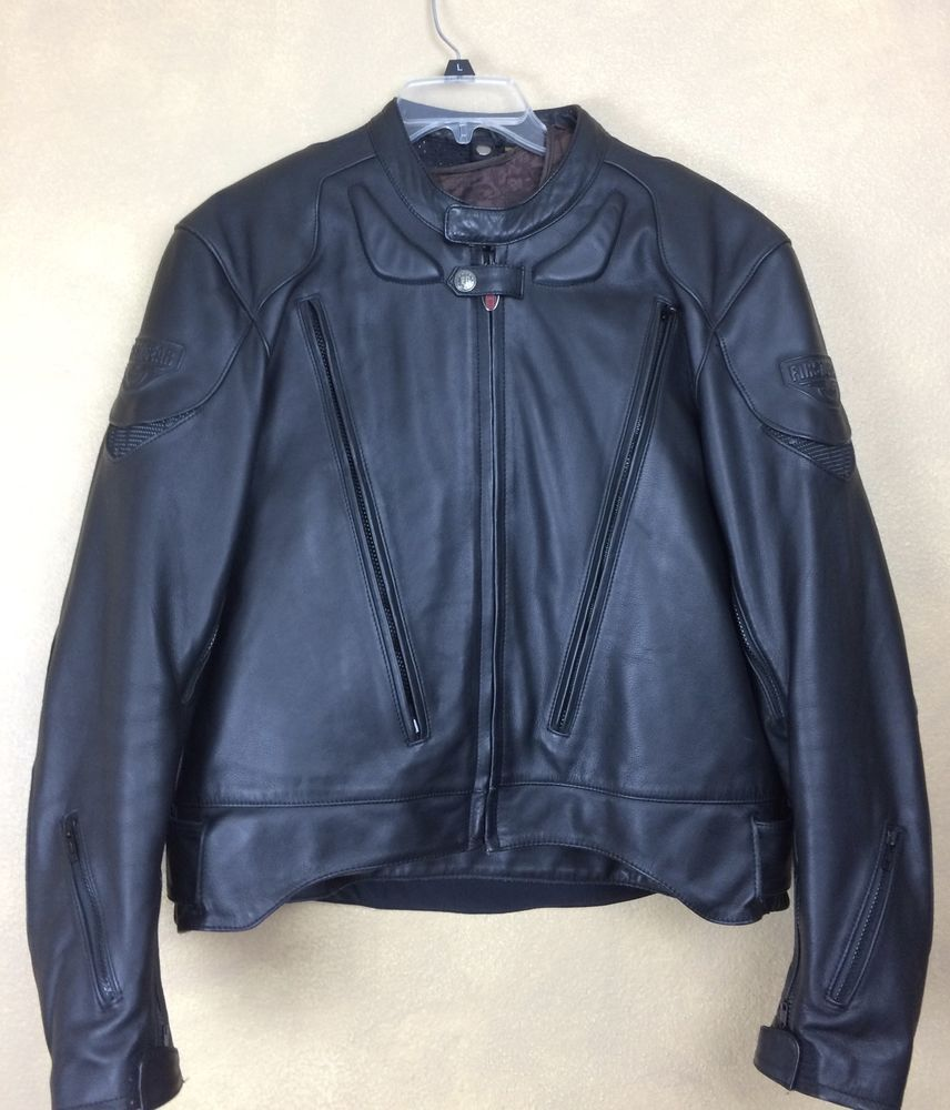 42774a59e FIRST GEAR HEIN GERICKE Leather Motorcycle Jacket Pilot Bomber ...