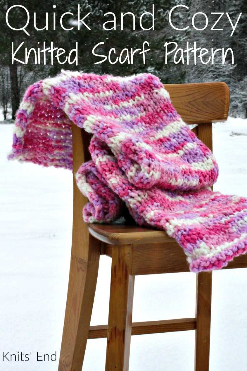 Quick and Cozy Knitted Scarf Pattern | Pinterest