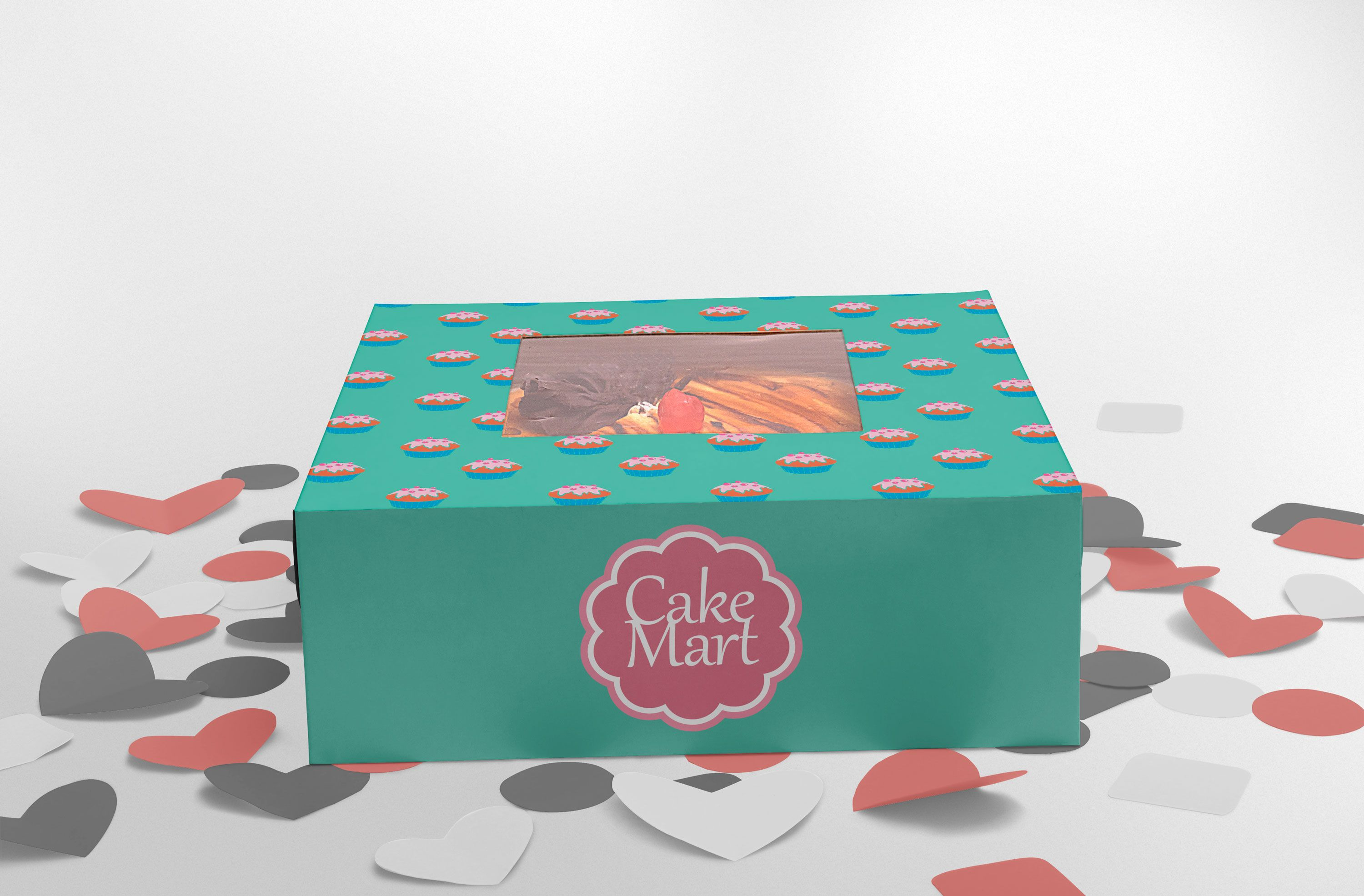 Download In Order To Help You Present A Logo Design Mockup To Your Client In A Super Polished Way We Ve Gathered The Free Box Mockup Logo Design Mockup Cake Packaging