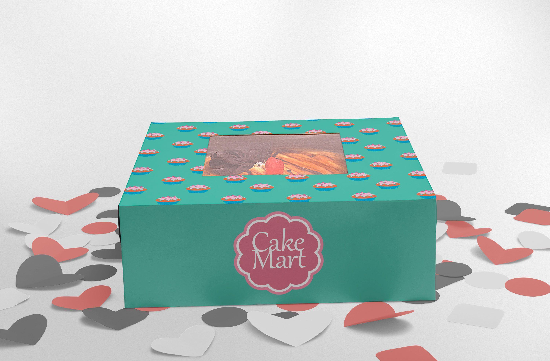 Download Free Cake Packaging Box Mockup Box Mockup Logo Design Mockup Cake Packaging