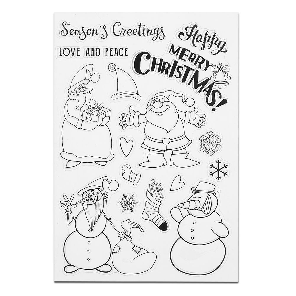 Christmas Transparent Silicone Clear Rubber Stamp Cling Diary ...