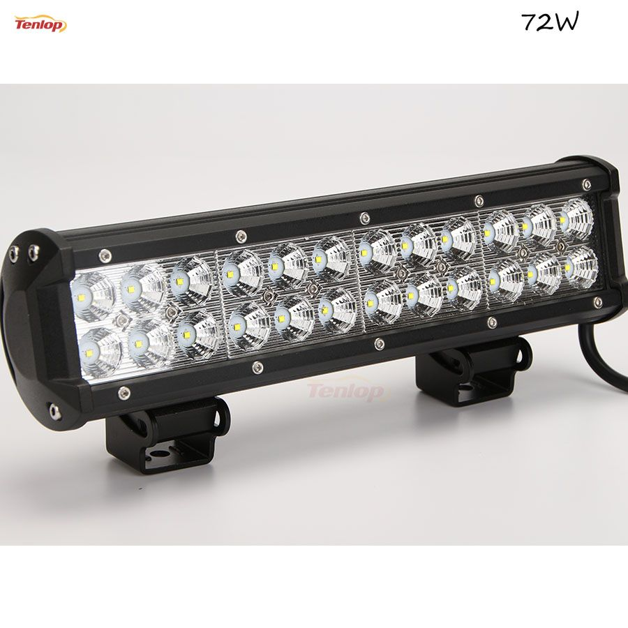 Hot Sale 12 Inch 72w Led Light Bar Dual Rows For Offroad 4 4 Suv Atv Tractor Bar Lighting Car Lights