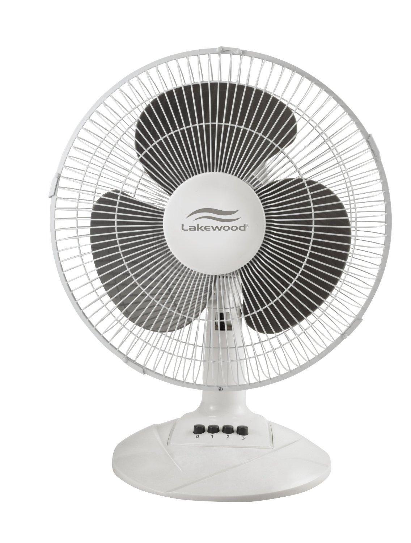 Small Table Fan In White Color By Lakewood Table Fan Oscillating Fans Fan