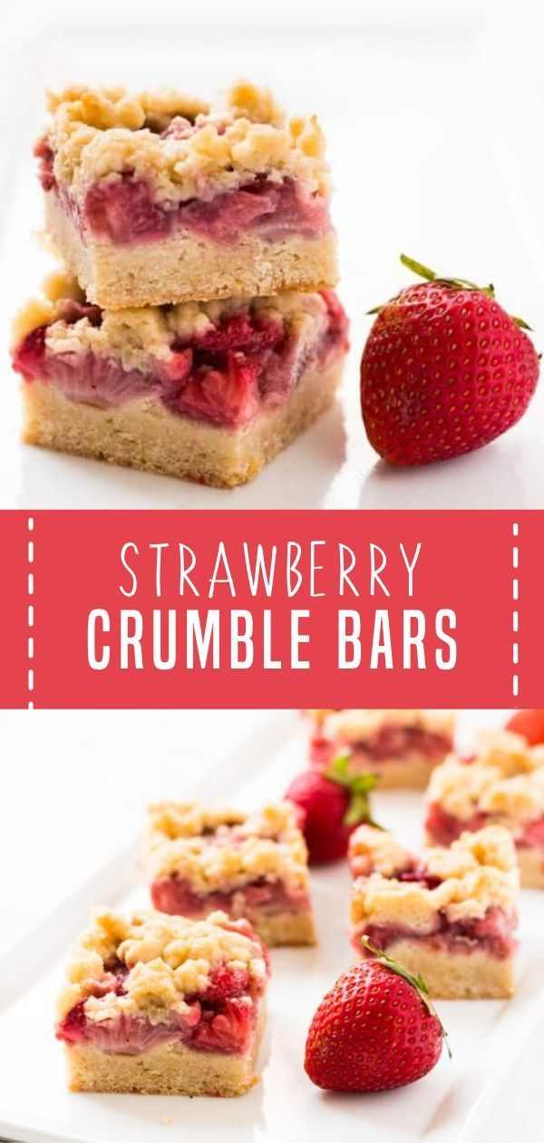 Photo of Strawberry Crumble Bars