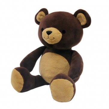 """Bedtime Originals Honey Bear Collection Plush: He may not be able to play the piano, but your baby is sure to fall in love with Mozart, our cuddly brown teddy bear. Mozart is as huggable as he is cute and at 9"""" tall he is easy to take on any adventure. He is machine washable in 100% polyester velour. #babygear #toys"""