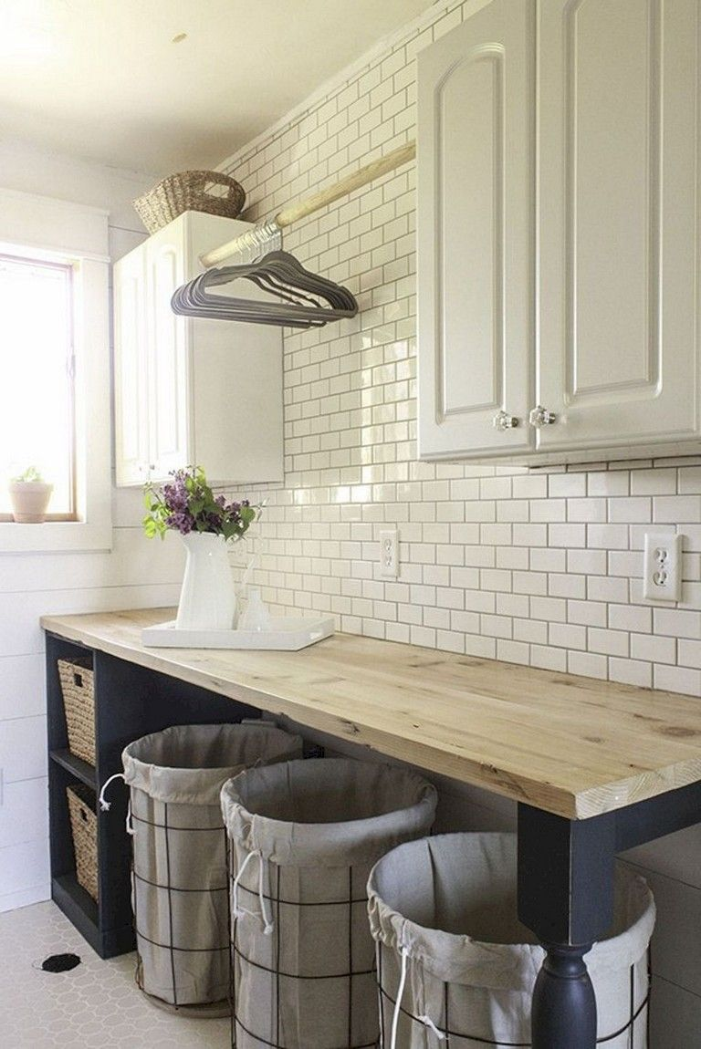 55 amazing farmhouse kitchen backsplash decor ideas farmhouse kitchen decor laundry room diy on farmhouse kitchen backsplash id=31573