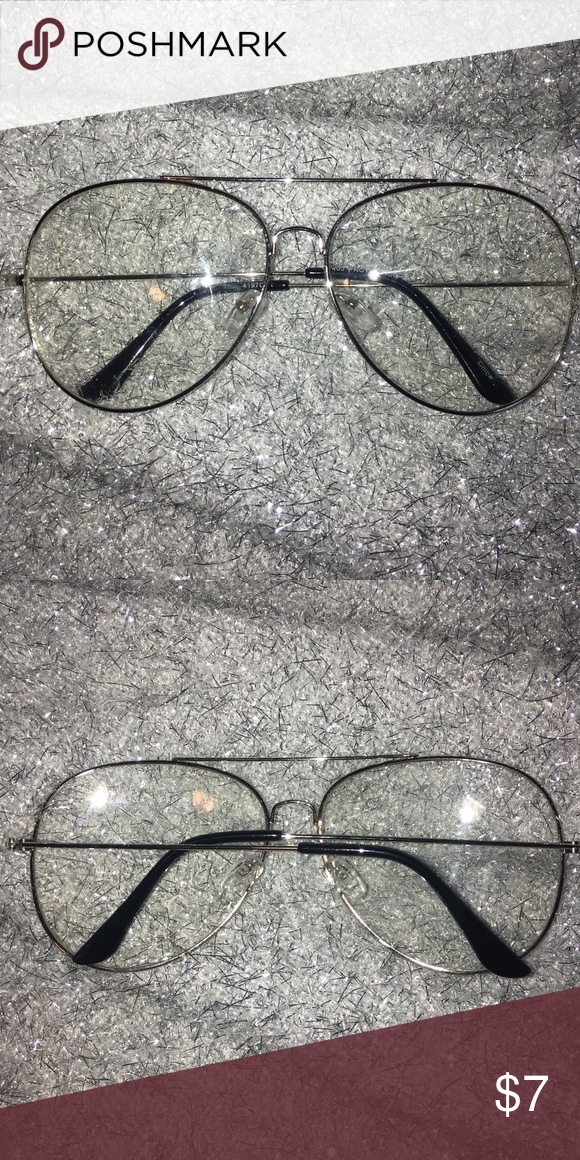 56f39d8718a F21 Clear Glasses used once kinda big but super cute Forever 21 Accessories  Glasses