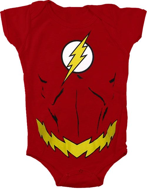 The Flash Uniform Costume Red Snapsuit Baby Romper Onesie Infant