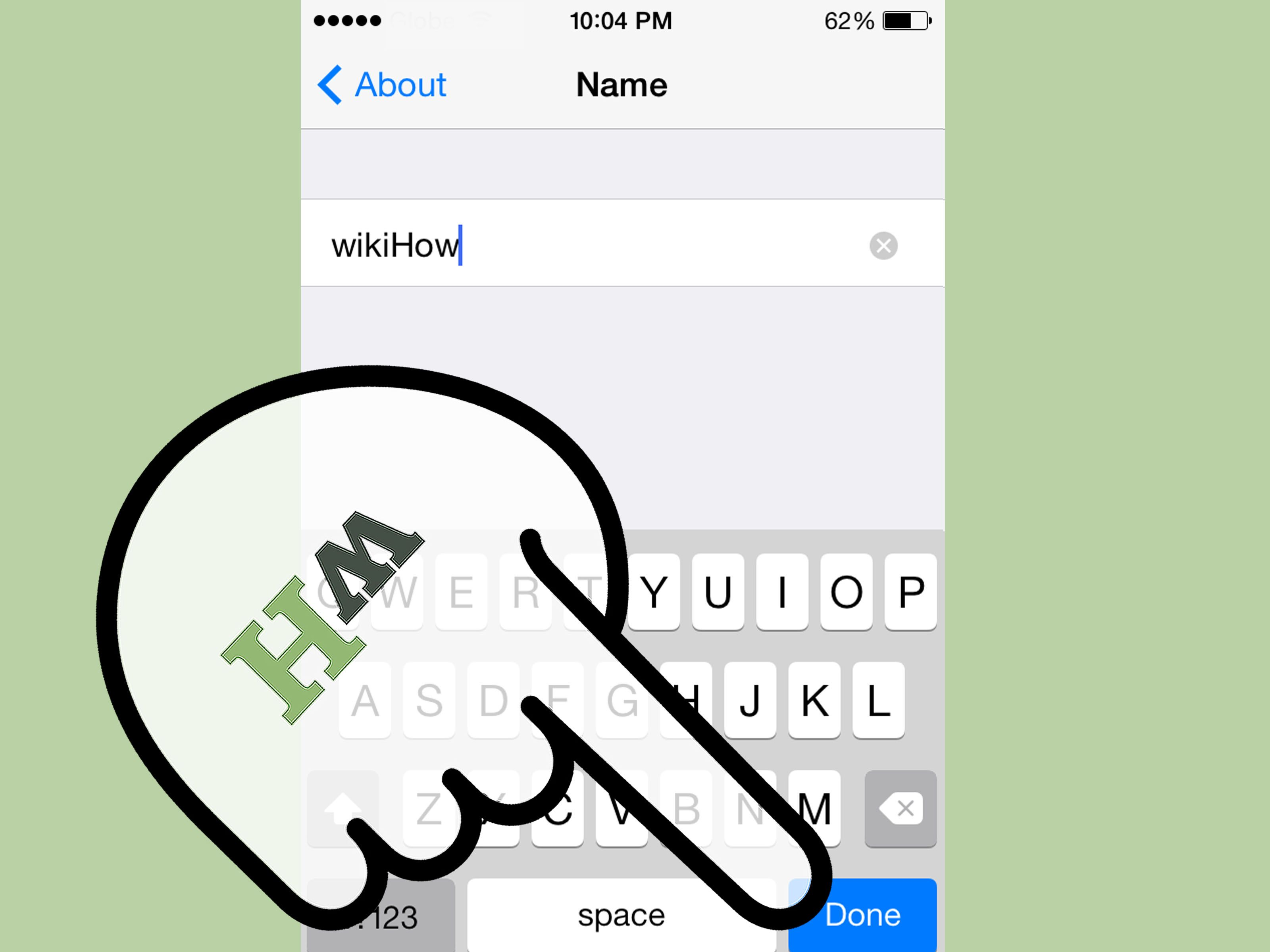 How to change the name of an iphone in ios iphone names