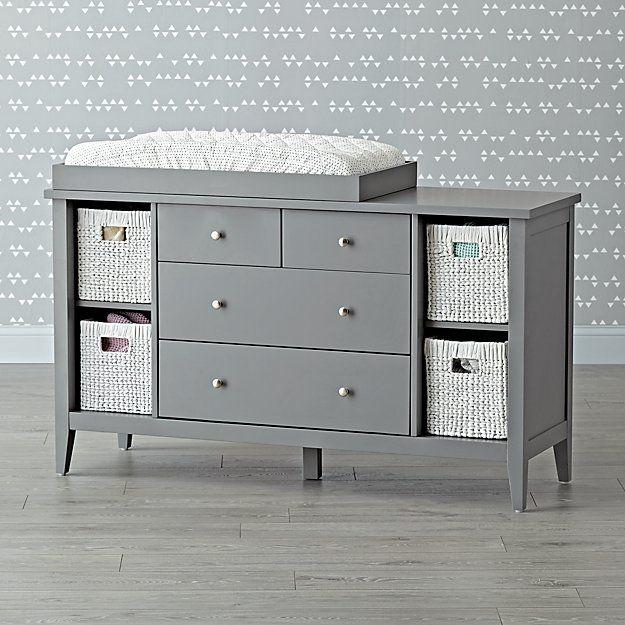 Blake Grey Changing Table The Land Of Nod Grey Dresser Baby