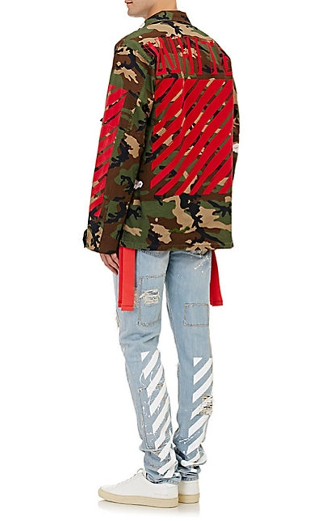 cfce32c44b9f8 Off White Embroidered Camo Field Jacket Size L $1000 - Grailed ...