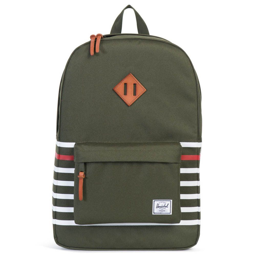 62f1e9dfec8 Herschel Supply Co. Heritage Backpack - Forest Night Offset Stripe Veggie  Tan Leather