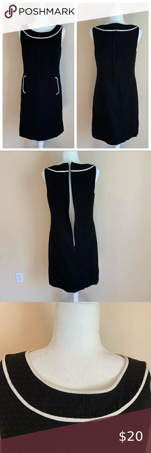 Ann Taylor Loft Black With White Trim Dress Clothes Design White Trim Fashion Trends [ 1740 x 580 Pixel ]
