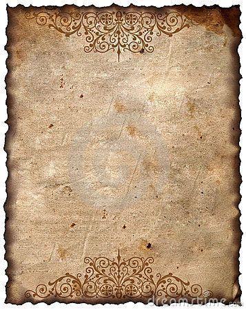 Vintage Background Old Paper Desenler Baski Cerceve