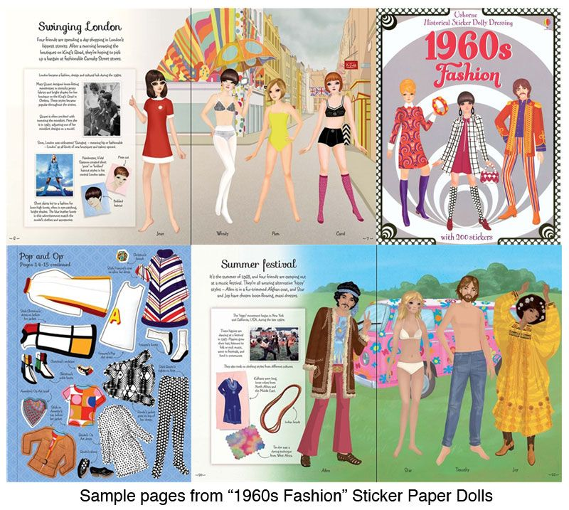 1960s Fashion Sticker Paper Doll : Paper Dolls Of Classic Stars, Vintage  Fashion And Nostalgic