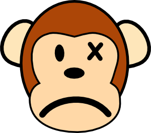 angry monkey clip art vector clip art online royalty free rh pinterest co uk cute monkey face clipart baby monkey face clipart