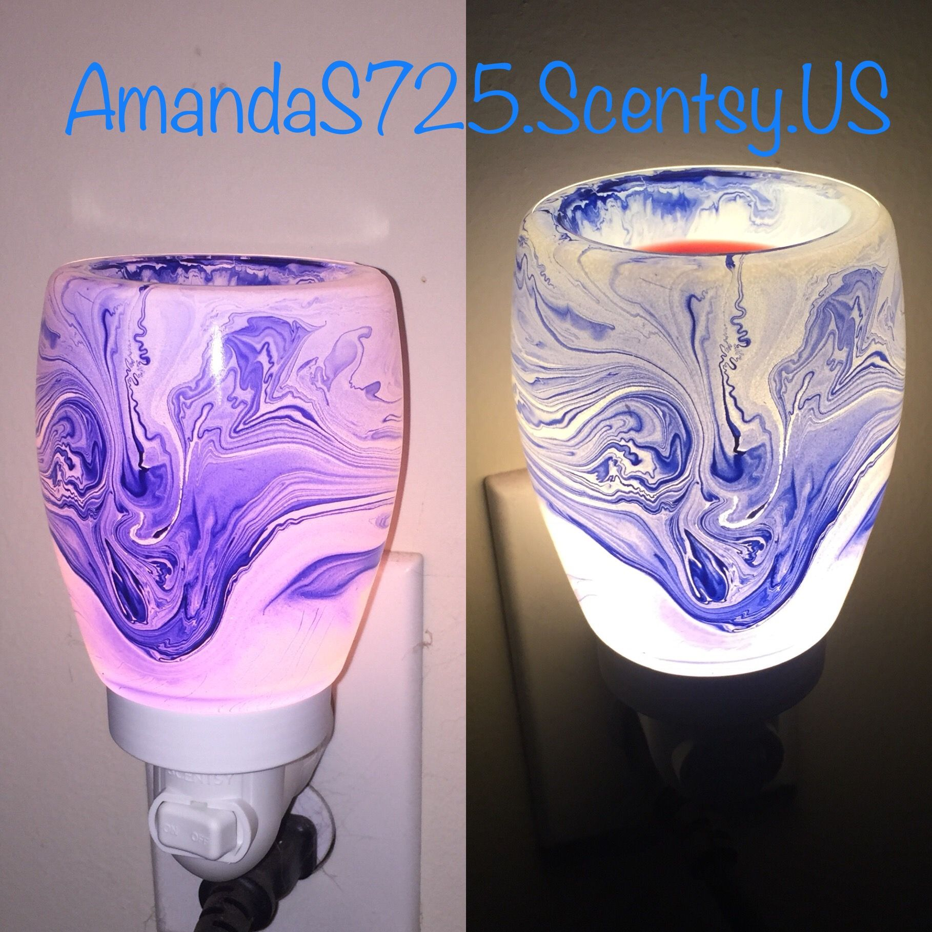 Blue Watercolor Scentsy Warmer Get Yours At Www Courtneycakes