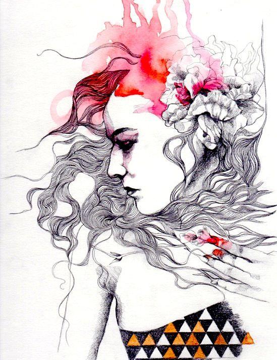 Metamorphosis #2 (detail) by Patricia Ariel http://www.etsy.com/listing/88551127/metamorphosis-number-two-original-pencil