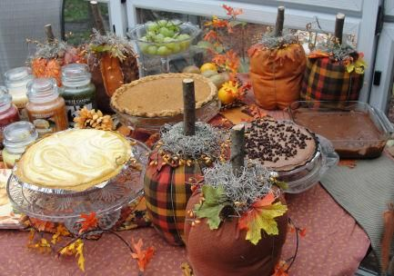 DIY Halloween : DIY make Fabric Country Primitive Pumpkins