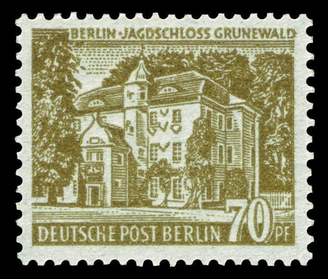 Deutsche Post Berlin 1954 Jagdschloss Grunewald Pul