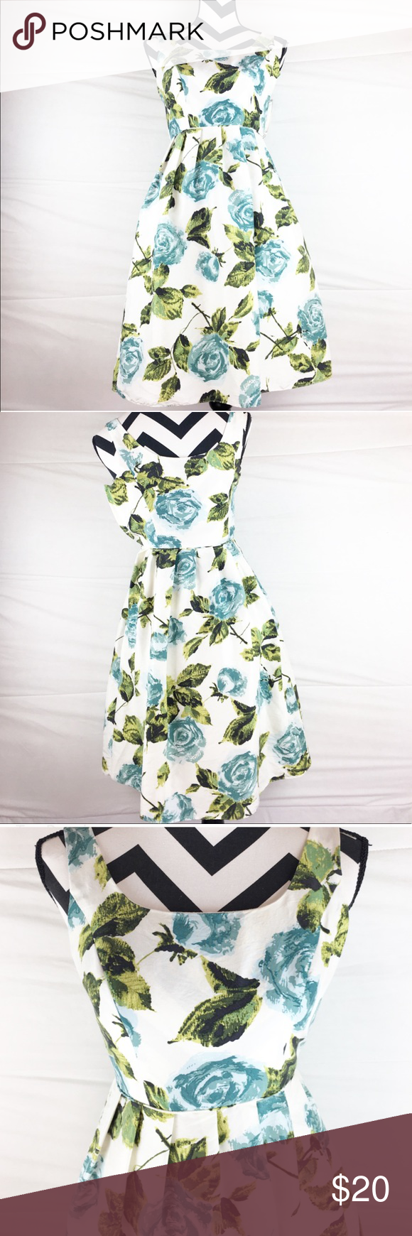 Ann taylor floral sleeveless dress ann taylor floral dress white ann taylor floral sleeveless dress ann taylor floral dress white dress with blue flowers and green leaves rounded neck pre owned good condition izmirmasajfo