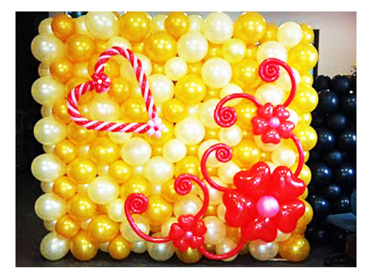 wedding golden and heart balloon decoration « ArtsyBalloons ...