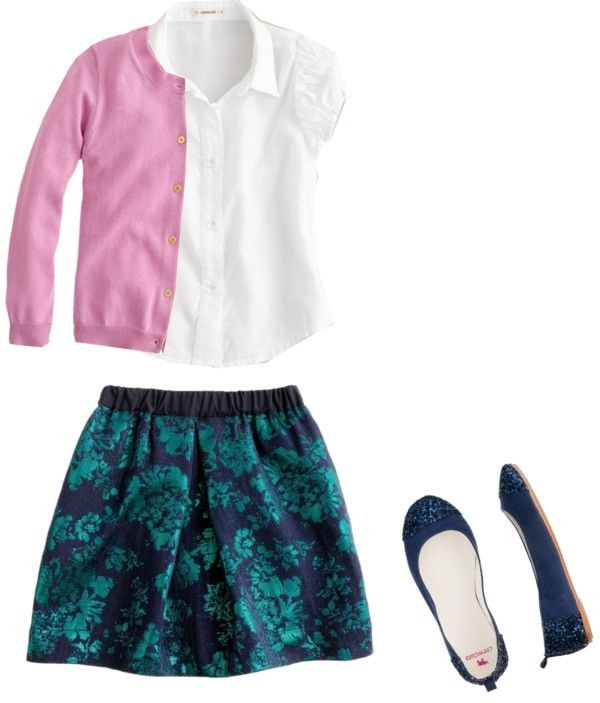 """""""Girls' Jacquard Skirt 2"""" by audreycastro on Polyvore"""