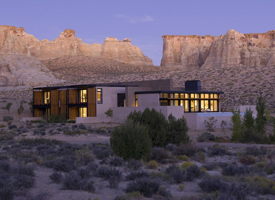 Amangiri Water Utah Hotels Romance Gr Mountain Snow House Winter Rock Landscape Valley Monastery