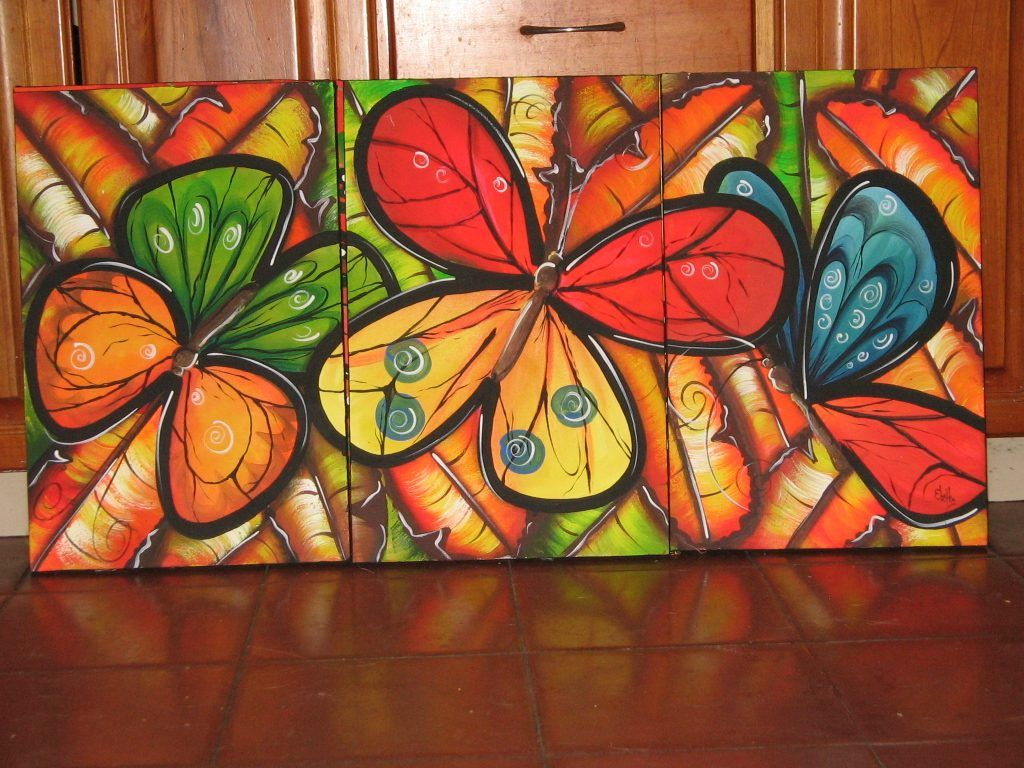 Pinturas acrilicas para cuadros flores arte pinterest - Pinturas originales para dormitorios ...