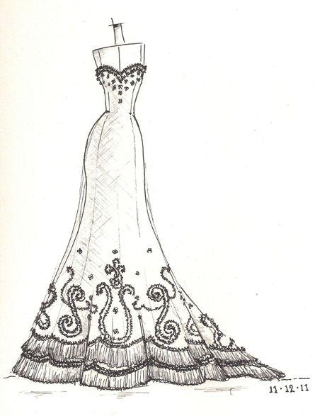 wedding dress sketch wedding dress sketches pinterest wedding