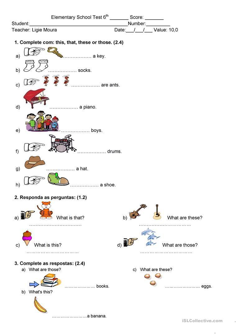 Demonstrative Pronouns Worksheet Free Esl Printable Worksheets Made By Teacher Demonstrative Pronouns English Language Learning Grammar Teach English To Kids