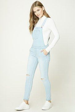Forever 21 Skinny Denim Overalls Found on my new favorite app Dote Shopping #DoteApp #Shopping