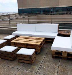 DIY Pallet Outdoor Sofa Ideas in 2020 | Pallet diy, Diy ...