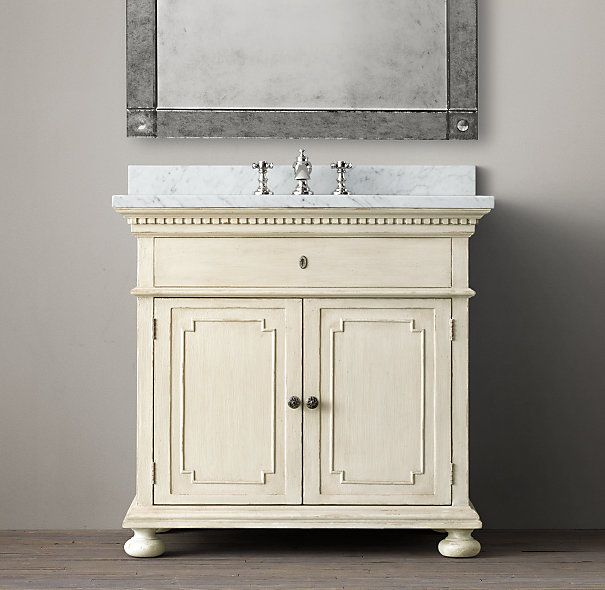 Restoration Hardware St James Single Vanity Sink Bathroom