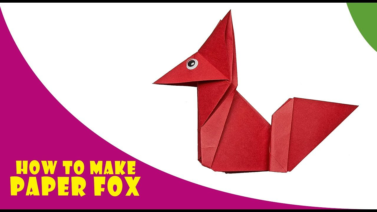 Photo of Origami Fox | How to make with Paper Fox | Kids Crafts | ED Studio