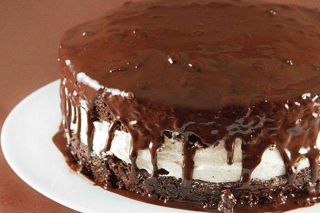 Chocolate Olive Oil Cake with Mocha Glaze