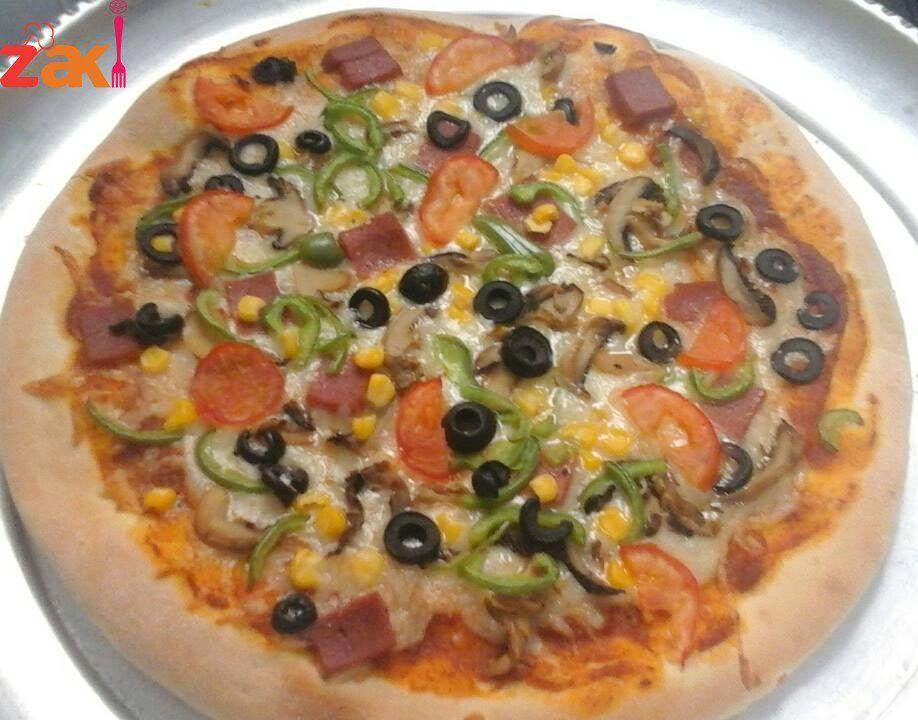 طريقة عمل عجينة البيتزا زاكي Best Dishes Vegetable Pizza Food